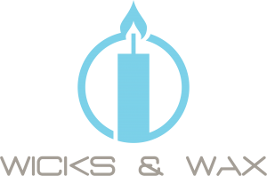 Wicks & Wax Logo - Graphic and Web Design Services